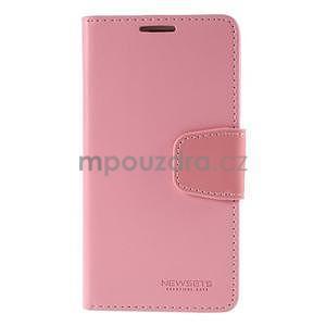 Elegantní peněženkové pouzdro na Samsung Galaxy S5 - růžové - 2