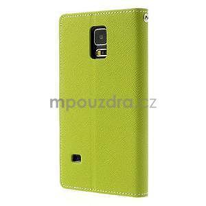Diary peněženkové pouzdro na Samsung Galaxy S5 - zelené - 2