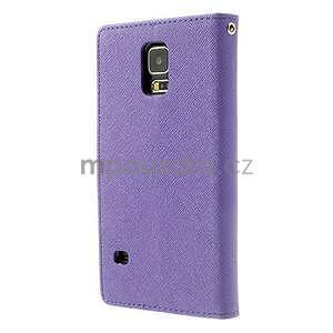 Diary peněženkové pouzdro na Samsung Galaxy S5 - fialové - 2