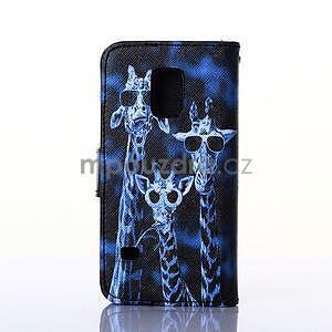 Puzdro pre mobil Samsung Galaxy S5 - žirafí mafie - 2
