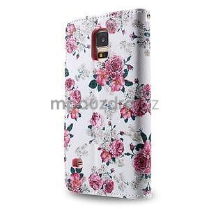 Ochranné puzdro pre mobil Samsung Galaxy S5 - kvetinová koláž - 2
