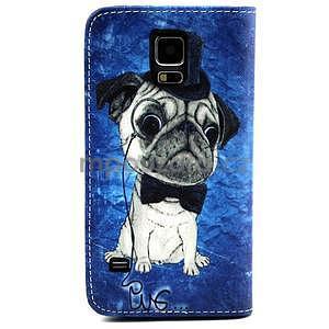 Puzdro pre mobil Samsung Galaxy S5 - mops - 2
