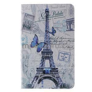 Ochranné koženkové puzdro na Samsung Galaxy Tab E 9.6 - Eiffelova veža - 2