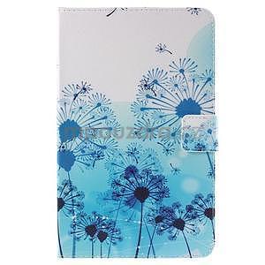 Ochranné koženkové puzdro na Samsung Galaxy Tab E 9.6 - modrá púpava - 2