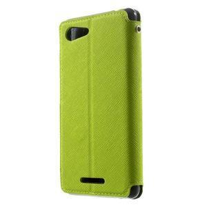 Peňaženkové puzdro s okienkom na Sony Xperia E3 - zelené - 2