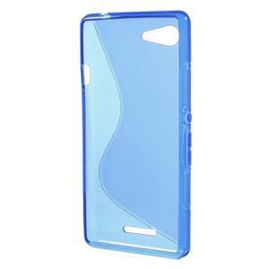 S-line gélový obal pre Sony Xperia E3 - modrý - 2