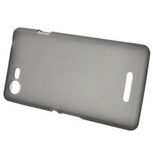 Matný gélový obal pre mobil Sony Xperia E3 - sivý - 2