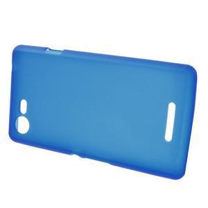 Matný gélový obal pre mobil Sony Xperia E3 - modrý - 2