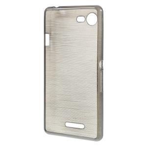Brushed gélový obal pre mobil Sony Xperia E3 - sivý - 2