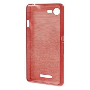Brushed gélový obal pre mobil Sony Xperia E3 - červený - 2