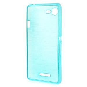 Brushed gélový obal pre mobil Sony Xperia E3 - modrý - 2