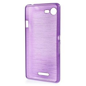 Brushed gelový obal na mobil Sony Xperia E3 - fialový - 2
