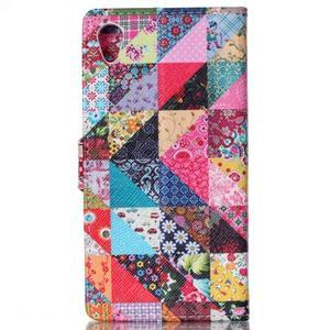Emotive puzdro pre mobil Sony Xperia M4 Aqua - triangles - 2
