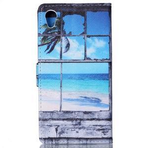 Emotive puzdro pre mobil Sony Xperia M4 Aqua - plážová scenérie - 2