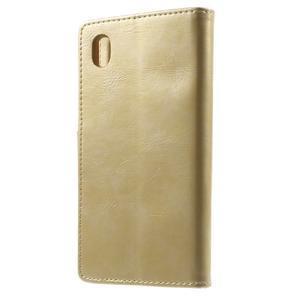 Moon PU kožené pouzdro na mobil Sony Xperia M4 Aqua - zlaté - 2