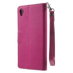 Leaf PU kožené pouzdro na mobil Sony Xperia M4 Aqua - rose - 2