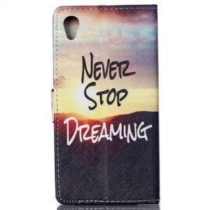 Emotive pouzdro na mobil Sony Xperia M4 Aqua - nepřestávej snít - 2