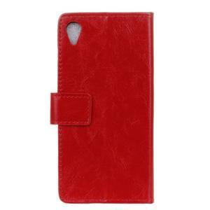 Horse PU kožené pouzdro na Sony Xperia X - červené - 2