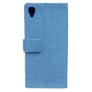 Texture puzdro pre mobil Sony Xperia X - modré - 2