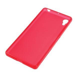 Matný gelový obal na mobil Sony Xperia X - červený - 2