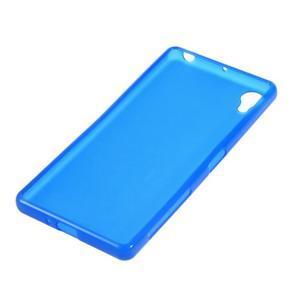 Matný gélový obal pre mobil Sony Xperia X - modrý - 2