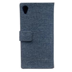 Texture puzdro pre mobil Sony Xperia X - tmavomodré - 2