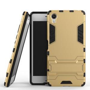 Odolný kryt na mobil Sony Xperia X - zlatý - 2