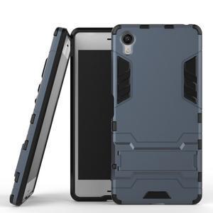 Odolný kryt na mobil Sony Xperia X - šedomodrý - 2