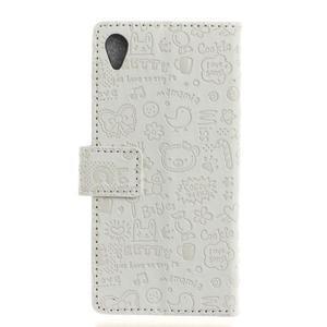 Cartoo peněženkové pouzdro na Sony Xperia X - bílé - 2