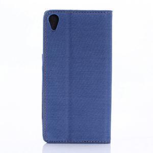 Jeans Peňaženkové puzdro pre mobil Sony Xperia XA - modré - 2