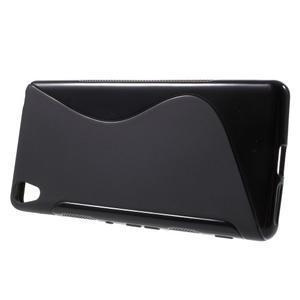 S-line gélový obal pre mobil Sony Xperia XA - čierny - 2