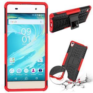Outdoor odolný obal na mobil Sony Xperia XA - červený - 2
