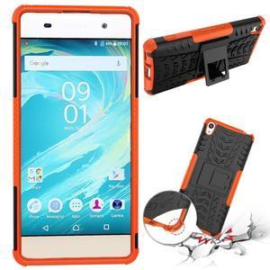 Outdoor odolný obal pre mobil Sony Xperia XA - oranžový - 2