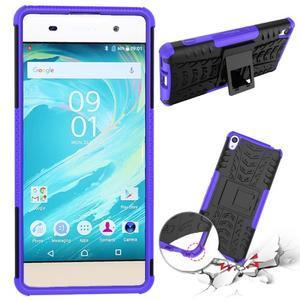 Outdoor odolný obal pre mobil Sony Xperia XA - fialový - 2