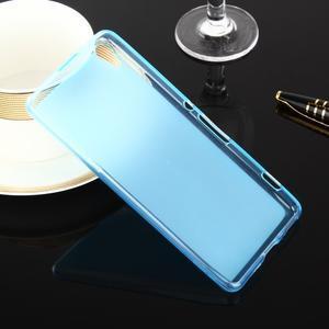 Oboustranně matný gelový obal na Sony Xperia XA - modrý - 2