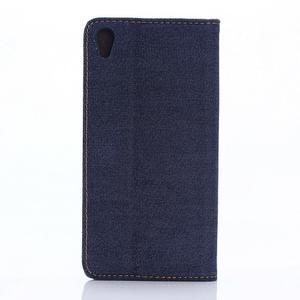 Jeans peněženkové pouzdro na mobil Sony Xperia XA - tmavěmodré - 2