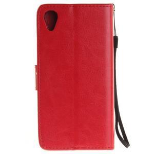 Dandely PU kožené pouzdro na mobil Sony Xperia XA - červené - 2