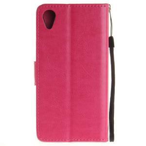 Dandely PU kožené puzdro pre mobil Sony Xperia XA - rose - 2
