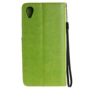 Dandely PU kožené puzdro pre mobil Sony Xperia XA - zelené - 2