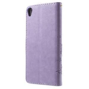 Butterfly puzdro pre mobil Sony Xperia XA - fialové - 2