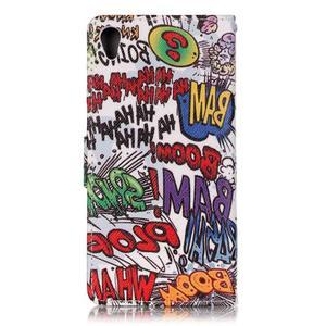 Emotive PU kožené knížkové puzdro pre Sony Xperia XA - boom - 2