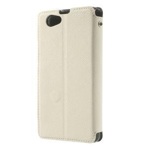 Okýnkové puzdro pre mobil Sony Xperia Z1 Compact - biele - 2