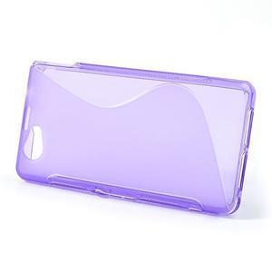 Gélové S-line puzdro pre Sony Xperia Z1 Compact - fialové - 2
