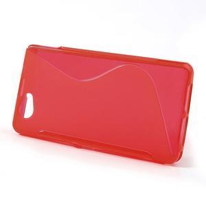 Gelové S-line pouzdro na Sony Xperia Z1 Compact - červené - 2