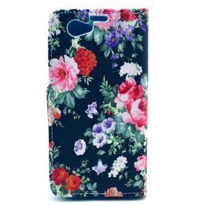 Puzdro pre mobil Sony Xperia Z1 Compact - kvetinová koláž - 2