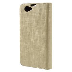 Clothy PU kožené puzdro pre Sony Xperia Z1 Compact - champagne - 2