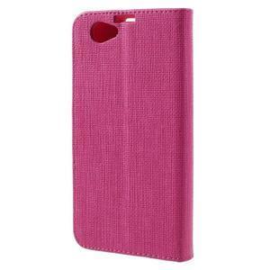 Clothy PU kožené pouzdro na Sony Xperia Z1 Compact - rose - 2