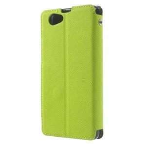 Okýnkové pouzdro na mobil Sony Xperia Z1 Compact - zelené - 2