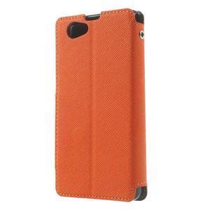 Okýnkové puzdro pre mobil Sony Xperia Z1 Compact - oranžové - 2