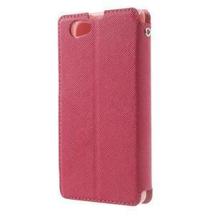 Okýnkové pouzdro na mobil Sony Xperia Z1 Compact - rose - 2